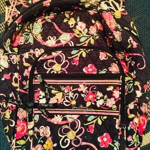 Vera Bradley floral backpack school work carry-all